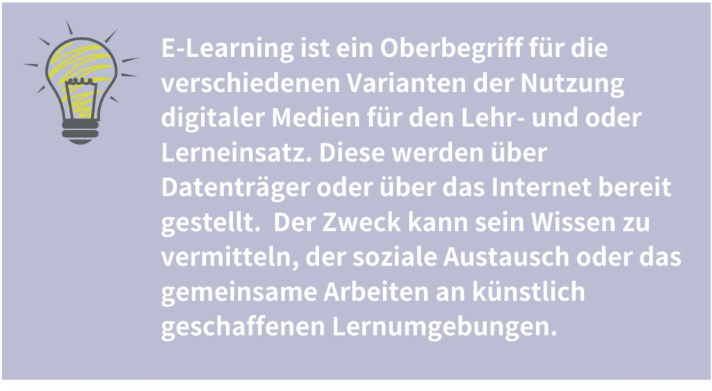 E-Learning Erläuterung
